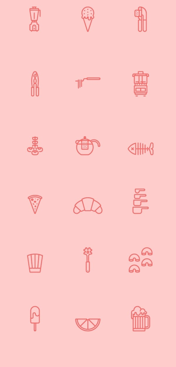RNS Pictográfica Cocina on Behance #icon #sign #set #picto #symbol #outline
