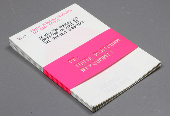 Creative Review - Infographics to aid The Girl Effect #belly #simple #folded #booklet #band
