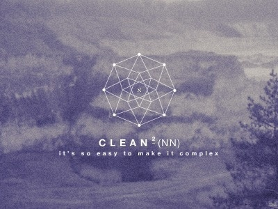 Dribbble - cleannn by Giel Cobben #complex #photography #logo #spiderweb #cleannn #typography