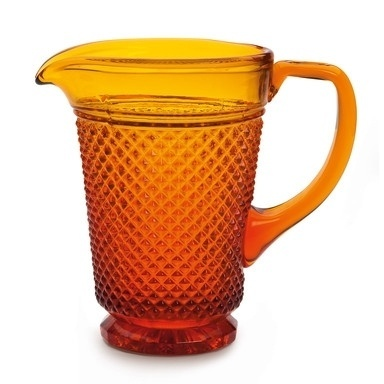 Honeycomb Patterned Machine-Pressed Jugs ($50-100) - Svpply #glass #jug #honeycomb #amber