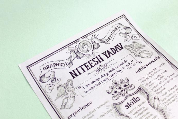 Resume #resume # lettering #typography