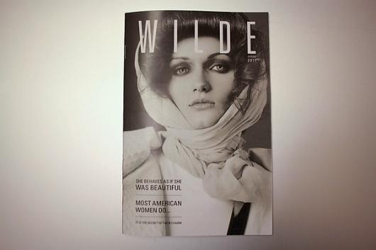 WILDE Magazine on Typography Served #white #black #cover #and #wilde #magazine #typography