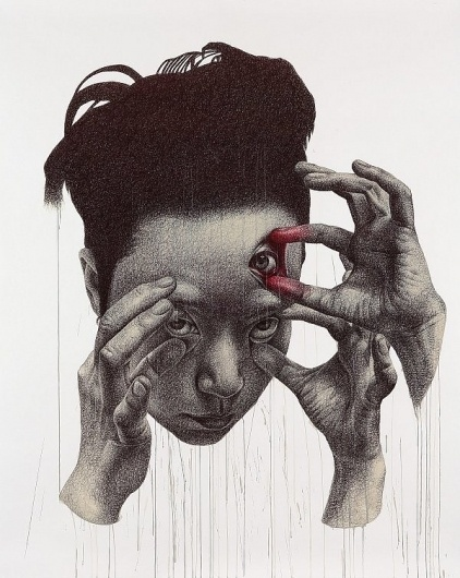 I need a guide: spunky zoe #eyes #illustration #portrait #hands