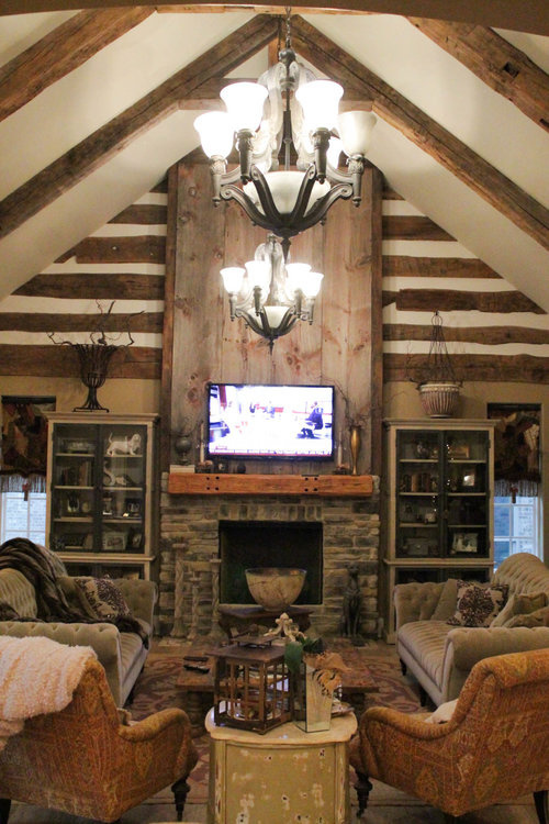 Beams & Accents work in #Kentucky. By - Old World Timber