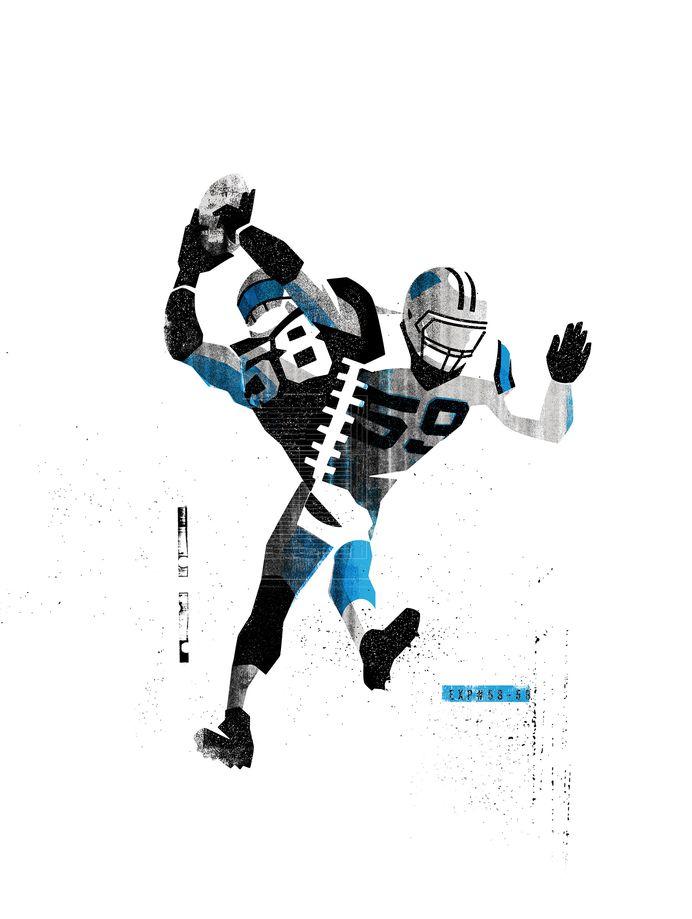 MONSTER #Illustration by Matt Stevens #Sports #NFL #Carolina #Panthers #American #Football