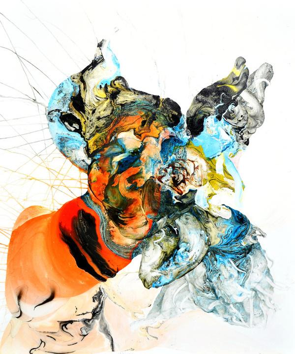 "Saatchi Online Artist: i wayan sudarsana yansen; Oil, 2011, Painting """"NL50sen"" #watercolour"