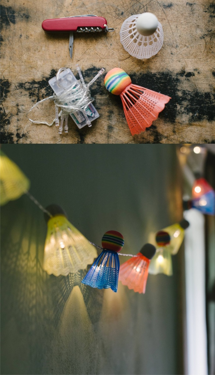 Badminton balls light #DIY