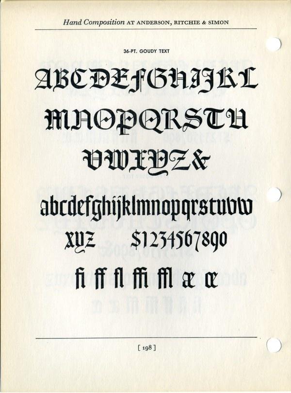 Goudy text type specimen #typography #type #type specimen