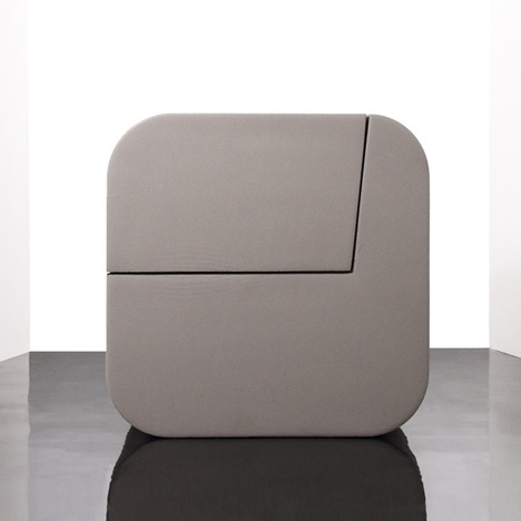 Dezeen » Blog Archive » Dual Cut by Kitmen Keung for Sixinch #chair #design #slice #foam #ottoman #product #furniture
