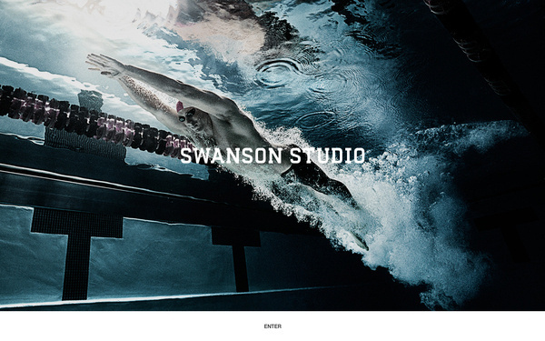 Swanson Studio Web Site on the Behance Network #photo #design #screen #full #web