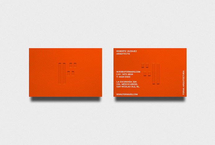 Forma by About Design #orange #branding #stationary #business card