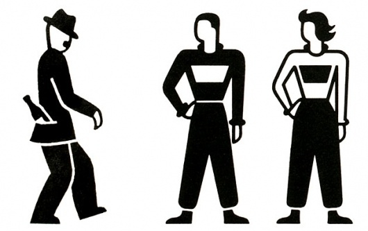 Gerd Arntz – Graphic designer at thegraffik | design and illustration #pictogram #icon #logo #gerd #arntz