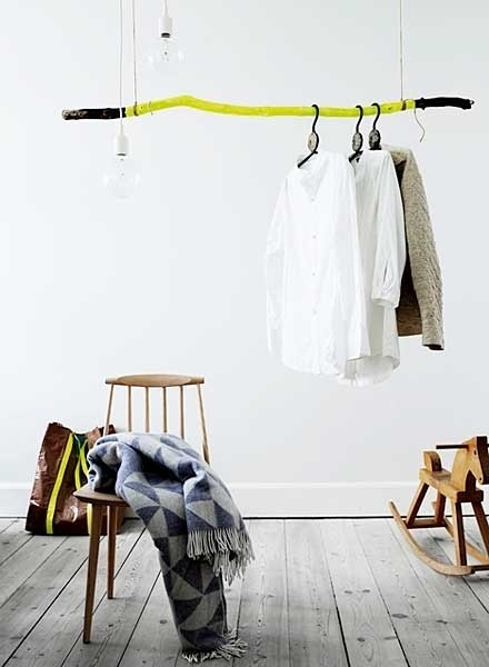 Best stick interiors neon painted driftwood images on - Burras para ropa ...