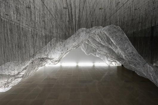 yasuaki onishi: reverse of volume RG at rice gallery #art #instalation