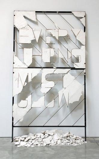 Nick van Woert #steel #sculpture #plaster #billboard #entropy