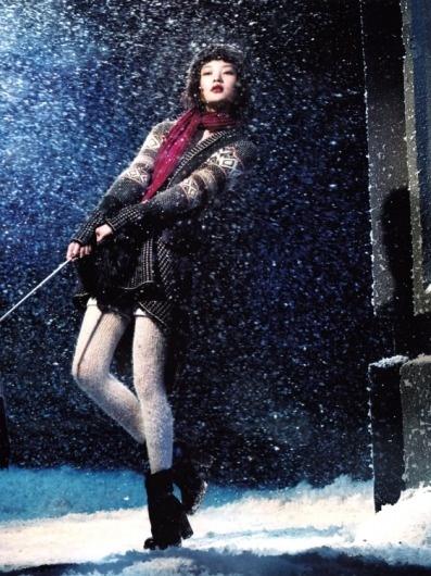 fakingfashion: Vogue China December 2010 | Winter Wonderland | Richard Ramos #vogue #china #girl #winter