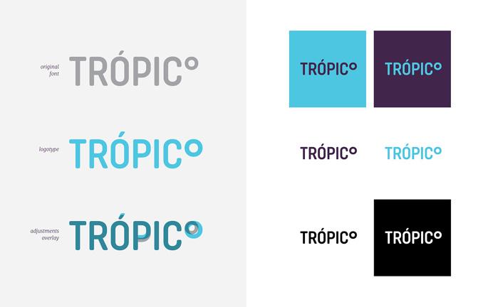 Carlos Bauer and Nicholas Pierre tropico branding blue logotype business card modern simple mindsparkle mag purple stationery minimal