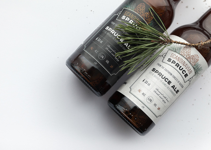 Spruce Ale #typography #packaging
