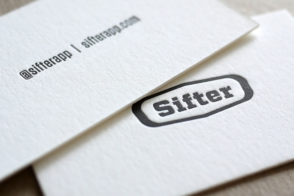 Sifter Letterpress Business Cards Printed By @HobanPress #cards #business