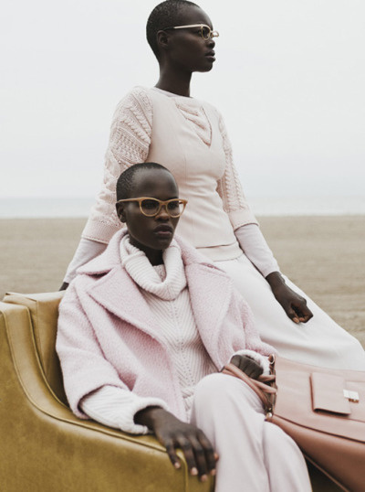 """Fall tides"". Naro Lokuruka & Aluad Deng Anei by Jane & Jane for Filler Magazine F/W 2015"