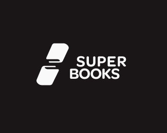 superbooks updated #icon #logo #negative #space