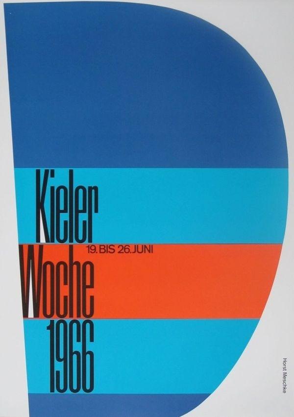 Kieler Woche 1966 poster #1960s #poster