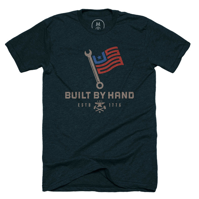 Built by hand by Mike Bruner #usa #work #blue collar #t-shirt