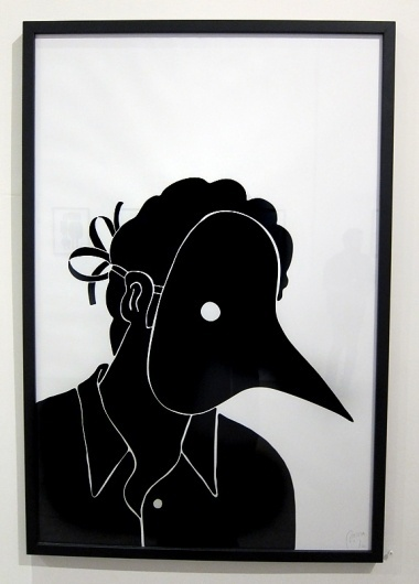 The Fox Is Black » Parra Exhibit at Arkitip's Project Space #white #arktip #black #illustration #and #birdman #parra