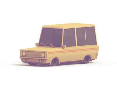 Wagon #model #render #vehicle #cinema #4d #car #3d