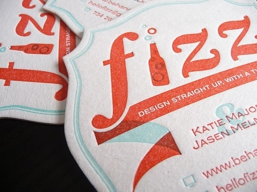 Fizz Coasters on the Behance Network #beer #coasters #letterpress