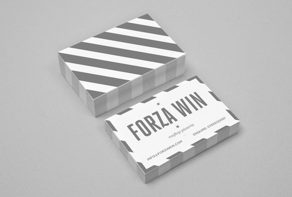 forza win #stationary #business #card #pizza #logo