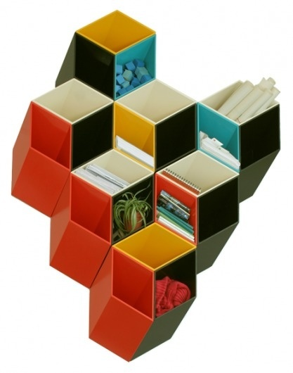 imeüble #modular #design #industrial #plastic #shelf
