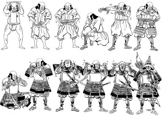 Samurai-armor-2.jpg (image) #samurai #preparing #illustration #armour