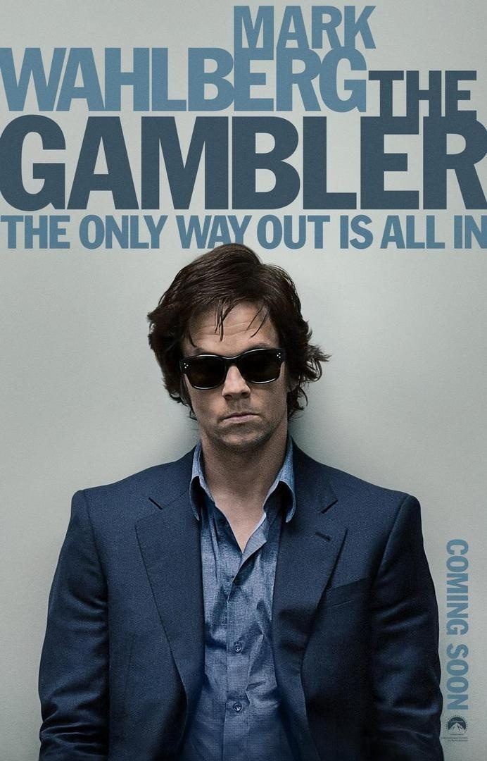 THE GAMBLER Red-Band Poster #typography #poster #graphic design