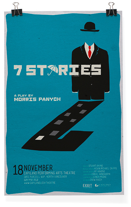 7 Stories #theater #design #poster
