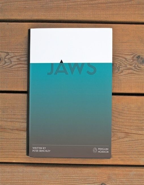 Jaws from the Penguin Horror book series by Tom Lenartowicz #cover #jaws #book #typography