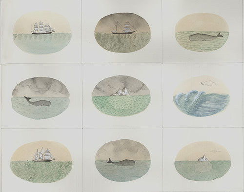 """Whales and Ships and Icebergs"" 50 Drawings by Sophie Blackall #illustration #art"