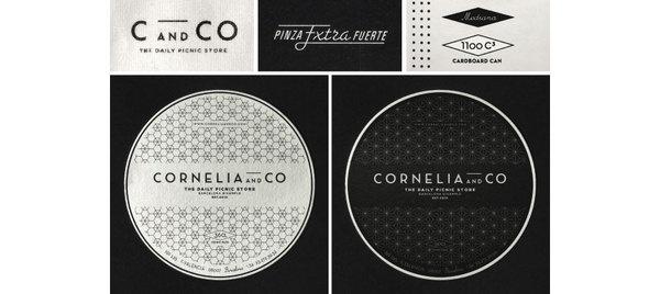 cornelia identity by Oriol gil www.mr cup.com #branding #typography