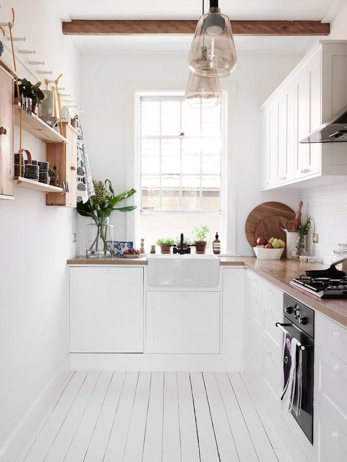 White kitchen. Swedish Summer House by Mr.Fräg. #white #kitchen #minimal