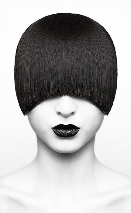 photography and hair #photography #hair #portrait #black and white #woman #lips #bob