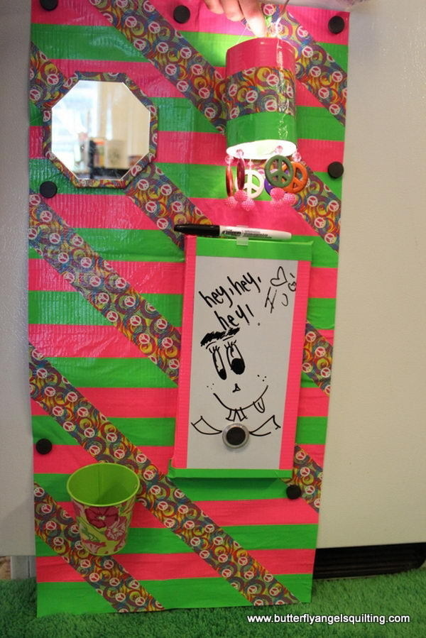 DIY Locker Decorations #design #makeup #decor #locker #decoration