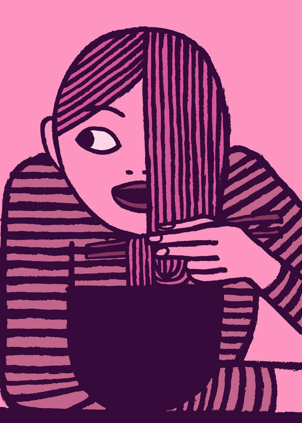 RAMEN #jean #illustration #magenta #jullien