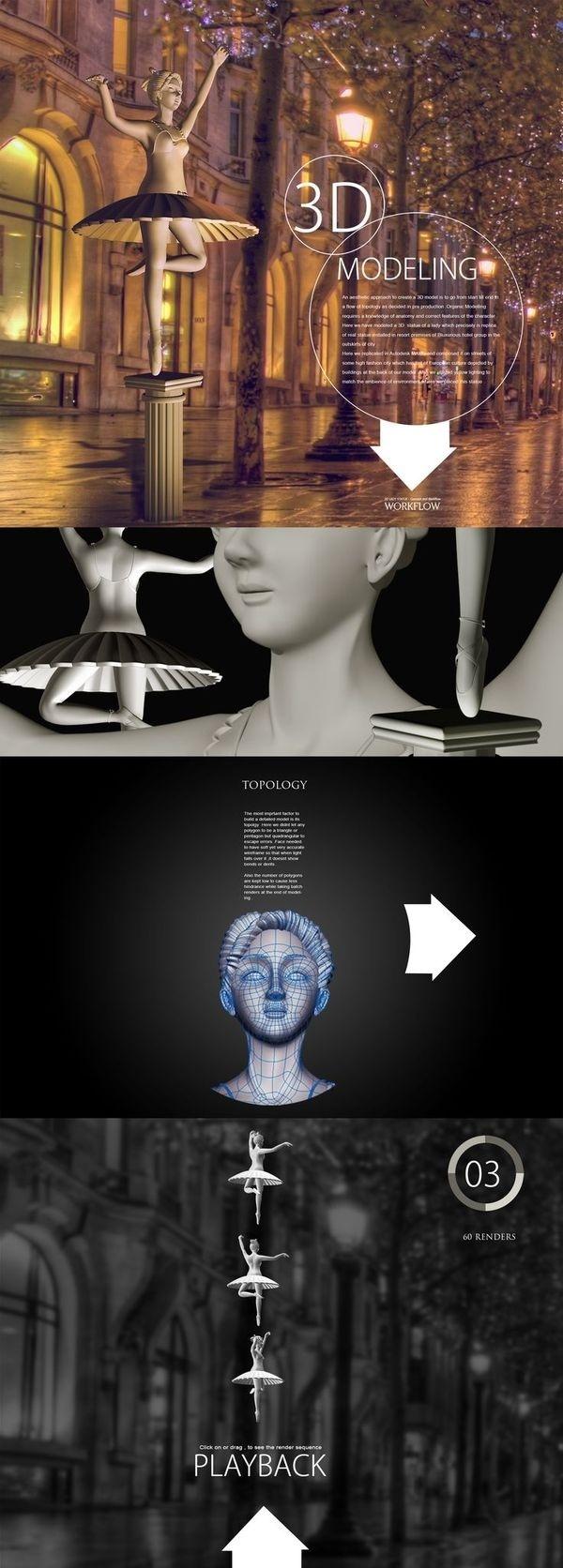 3D Model   lady statue   workflow #statue #workflow #3d