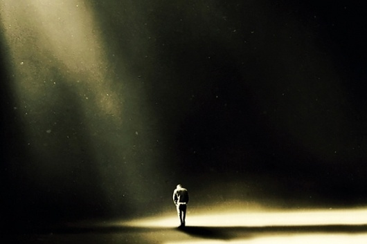 Martin Stranka #solitary #photography #light #spotlight #alone #dark #walk