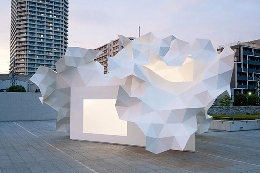 Bloomberg Pavilion Project - today and tomorrow #geometry #architecture #white