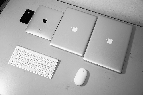 Apple Products Organized Neatly [Reader Gallery] | Cult of Mac #computer #apple #ipad #iphone #mac