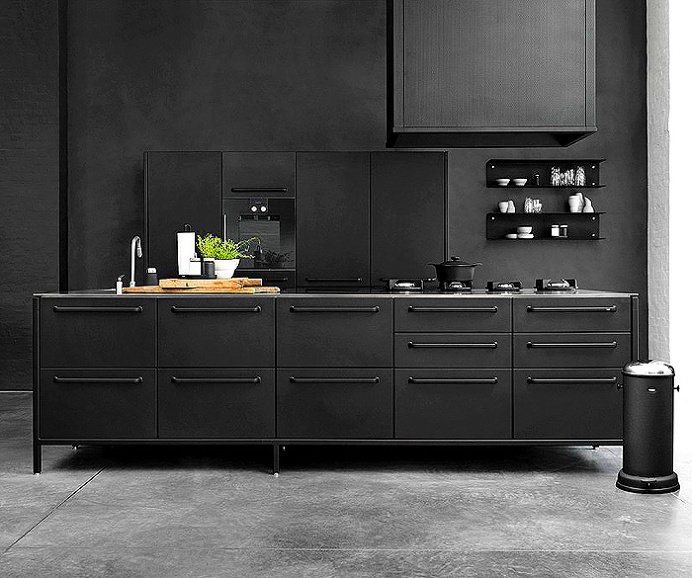 Modern Black Kitchen 2016 Cool Design