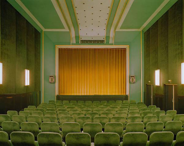 (1) Vintage   Tumblr #theater #auditorium #spaces #theatre #green