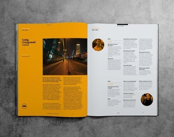 Outpost Magazine #minimal #grid #white #magazine #yellow #black