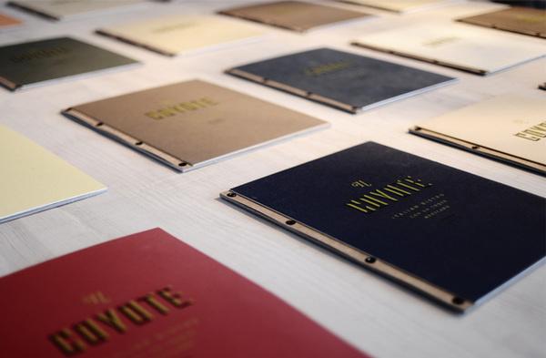 Il Coyote #cover #print #menu #branding